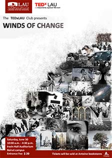 The TEDxLAU Club presents Winds of Change