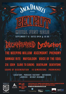 BEIRUT METAL FEST 2018 - September 7th and 8th