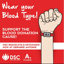 Wear Your Blood Type - Support DSC - Donner Sang Compter