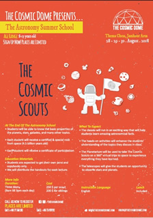 The Cosmic Dome presents The Astronomy Summer School (28-29-30 August 2018)
